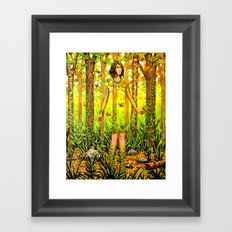 The Falling Leaves Framed Art Print