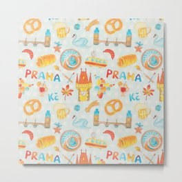 Adorable Prague Metal Print