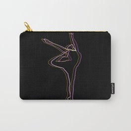 abstract girl illustration outlines,  Ballet Dancer silhouette - oneliner drawing Carry-All Pouch