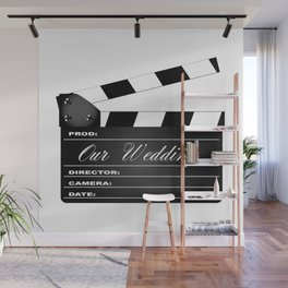 Our Wedding Clapperboard Wall Mural