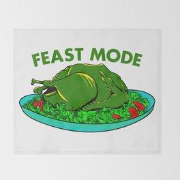 Feast Mode Thanksgiving Throw Blanket