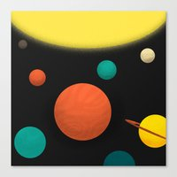 solar system Canvas Prints featuring Solar system by Sarajea