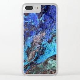 Malachite Mineral Stone rustic decor Clear iPhone Case