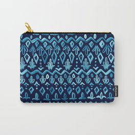 Mya Watercolor - Blue Carry-All Pouch