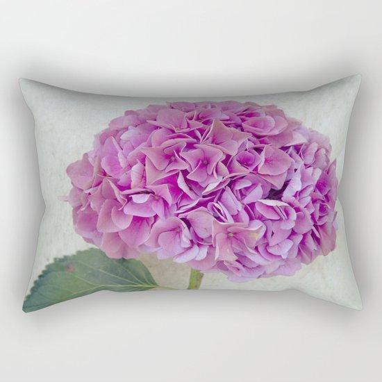 One Hydrangea Rectangular Pillow