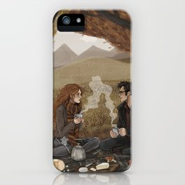 Lily and James, Autumn Picnic iPhone Case