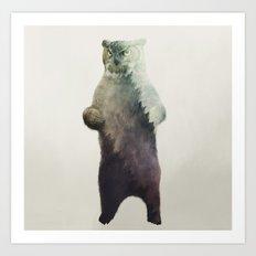 Owlbear in Forest Art Print