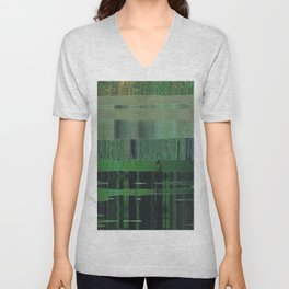 green scan Unisex V-Neck