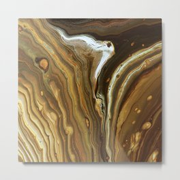 Swashes of gold and fire Metal Print