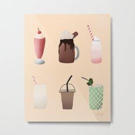 Milkshakes in the Yard Metal Print