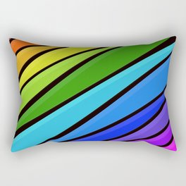 Rain Storm Rainbow Rectangular Pillow