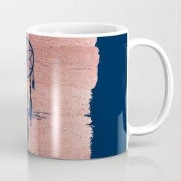 Modern navy blue faux rose gold dreamcatcher Coffee Mug