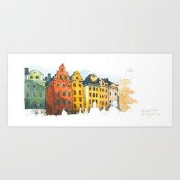 Stortoget Stockholm Art Print