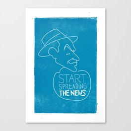 Frank Sinatra - Start Spreading The News Canvas Print