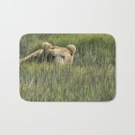Being Watched by a Big Brown Bear Bath Mat