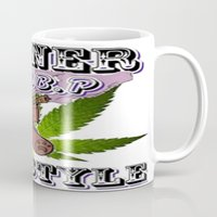 cannabis Mugs featuring The King Of Cannabis Timothy The Cannabis Bear  by Timmy Ghee CBP/BMC Images  copy written