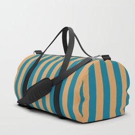 Laguna Blue and Mango Stripes Duffle Bag
