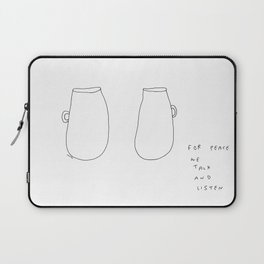 For Peace - coffee cup illustration Laptop Sleeve