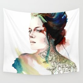 blossoming tattoos Wall Tapestry