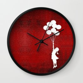 Banksy the baloons girl Wall Clock