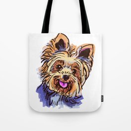 The cute smiley Yorkie love of my life! Tote Bag