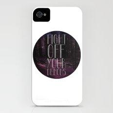 fght ff yr dmns Slim Case iPhone (4, 4s)