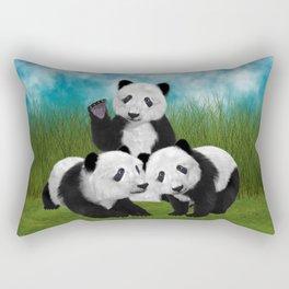 Panda Bear Cubs Love Rectangular Pillow