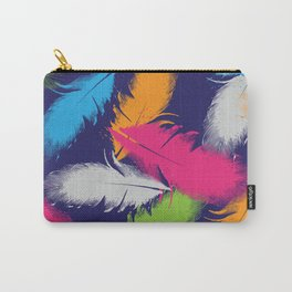Bright Falling Feathers Carry-All Pouch