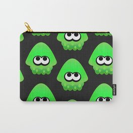 Splatoon Squid Pattern Green Carry-All Pouch