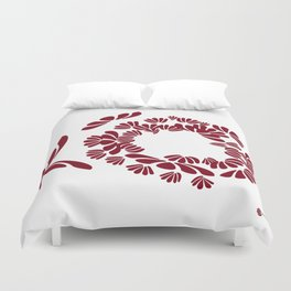 CRANBERRY RED: a deep inward vision Duvet Cover