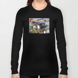 Beyond the Sea - Spirited Away / Ponyo Tsunami Series Long Sleeve T-shirt