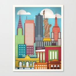 Touristique - New York Canvas Print