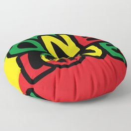 One Love, Reggae Design Floor Pillow
