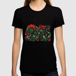 Fiery Dragon - Red-Black T-shirt