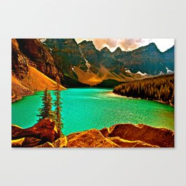 Emerald and Gold Enchantment Canvas Print