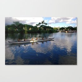 Late Afternoon Row Canvas Print