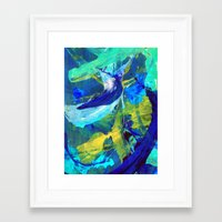 blueprint Framed Art Prints featuring Blueprint by Faye Readman