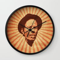 tom waits Wall Clocks featuring Waits by Durro