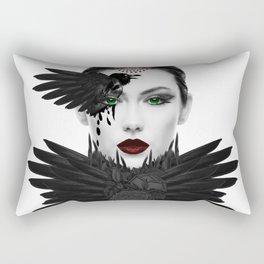 Weeping Gaia / Dark Angel Goddess Modern Feminine Art Rectangular Pillow