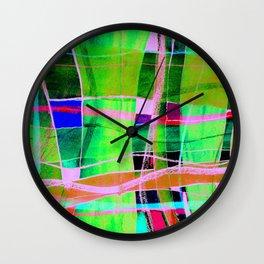 CROSS LINES Wall Clock