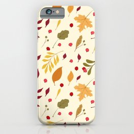 Autumn Foliage Pattern iPhone Case