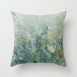 Cabbage Butterflies Throw Pillow