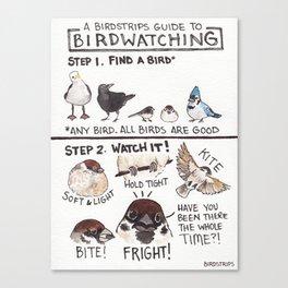 Bird no. 199: Birdwatching Guide Canvas Print