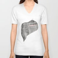 knit V-neck T-shirts featuring Knit Heart by Acorner