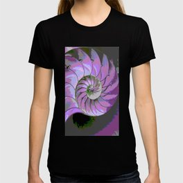 Spiral Abstract Shades of Purple's, Lilac, & Grey Patterns T-shirt