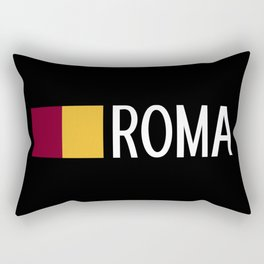 Italy: Roman Flag & Roma Rectangular Pillow