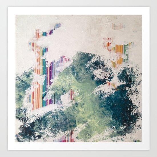 WATER/STRIPE2 Art Print