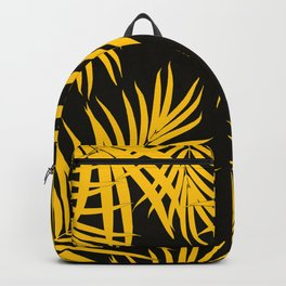 Palm Leaves Pattern Yellow Vibes #1 #tropical #decor #art #society6 Backpack