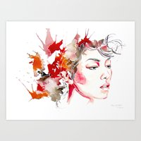 oriental Art Prints featuring oriental by Lua Fraga