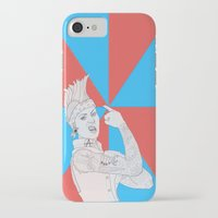 punk rock iPhone & iPod Cases featuring punk rock rosie. by snak3oil.